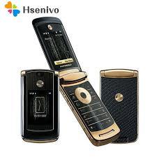 motorola flip phones razr. refurbished original unlocked motorola razr v8 mobile phone gold with 512 or 2gb internal memory luxury flip phones