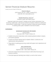 Gallery Of Sample Resume Pricing Analyst Financial Analyst Resume