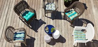wicker chairs on a patio