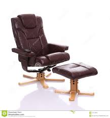 leather heated recliner chair with footstool