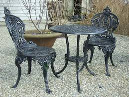 white cast iron patio furniture. Best 25 Wrought Iron Garden Furniture Ideas On Pinterest With Regard To Brilliant Household White Table And Chairs Cast Patio R