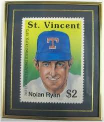 Nolan Ryan $2 Stamp Mint Framed St Vincent #d/10,000 CENTERED Hanford  Heirlooms | eBay