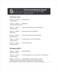 Annual Meeting Agenda Template 8 Free Word Pdf Documents