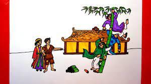 Vẽ Truyện Cây Tre Trăm Đốt - Vẽ Chuyện Cổ Tích Cây Tre Trăm Đốt - Cách vẽ truyện  cổ tích - YouTube