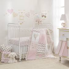 large size of pink and gold mini crib bedding set fl blanket polka dot c