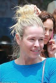 changing faces chelsea handler looked rather washed out as she headed out make up