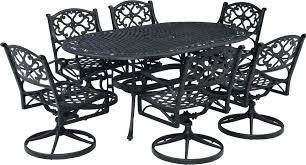 patio dining set with swivel chairs 7 piece patio dining set with swivel chairs home styles