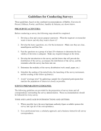 Pdf Guidelines For Conducting Surveys