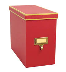 Cargo Atheneum File Storage Box - Red Image