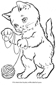 Coloring Book The Three Little Kittens