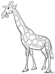 giraffe character cartoon coloring book pages
