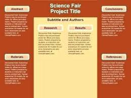 Science Project Poster Template Fair Templates Favorite