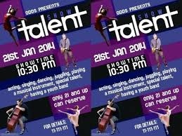 Talent Show Flyer Template Word Lccorp Co