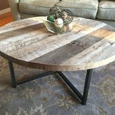 coffee table round round reclaimed wood table with metal base by coffee table decor coffee table round