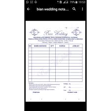 Koleksi Template Desain Nota Siap Edit Format Cdr Shopee Indonesia