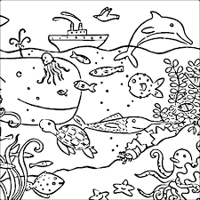 Ocean Coloring Page Water Animal Coloring Pages Best Kids Writing
