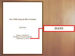 Mla Format Essay Title Essay Example