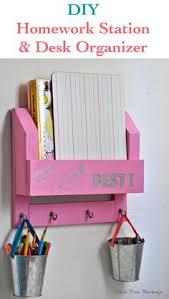 diy desk organizer tutorial. Simple Desk DIY Desk Organizer  How To Make A Homework Station Diy Tutorial