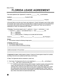 Preview image of this property lease template and download link can be found as below. Florida Residential Lease Rental Agreement Create Download
