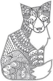 Small Picture Fox Animals Coloring pages for adults JustColor