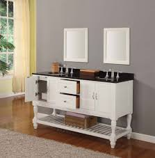 bathroom quot mission linen: quot mission style double bathroom vanity sink console with white double vanities for bathroom