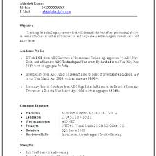 Great Resume Format For Freshers Download Pdf Images Entry Level