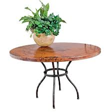 copper top dining table round