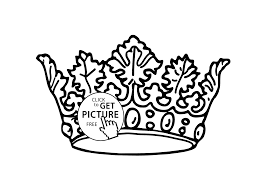 Small Picture Nice crown coloring page for girls printable free coloing 4kidscom