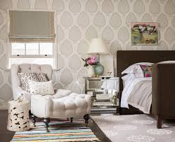 Neutral Wallpaper Bedroom Katie Ridder Wallpaper Bedroom Transitional With Lee Industries