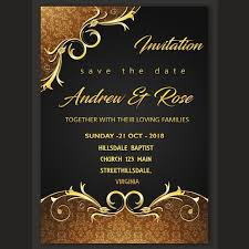 Invitation Card Design Template Template For Free Download