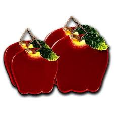 apple kitchen decor. big red apple shaped ceramic burner covers kitchen decor