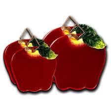 apple kitchen decor. big red apple shaped ceramic burner covers kitchen decor
