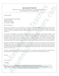 Cover Letter For Superintendent Of Schools Position Resume Cover