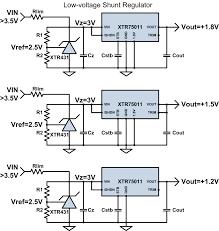 Shunt Regulator Circuit Design Schematic Collections Xrel Semiconductor