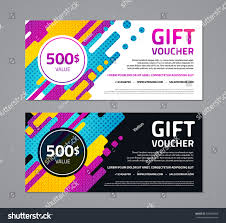 gift voucher template with abstract geometric background page print er booklet
