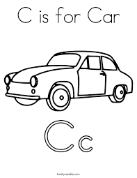 Small Picture C is for Car Coloring Page Twisty Noodle