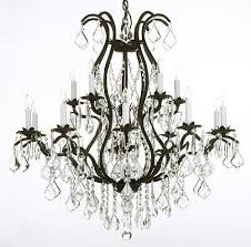 gallery lighting wrought iron chandelier crystal