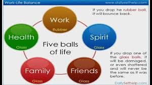 work life balance video five balls of life