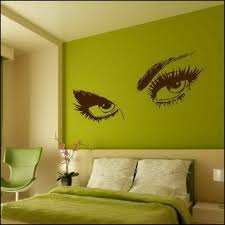 decorating wall design green accent bed