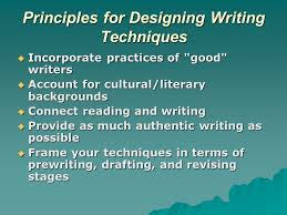 teaching writing skills writing is a communicative skill to send  4 principles