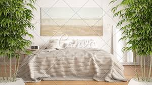 Natural Bedroom Interior Design Zen Interior With Potted Bamboo Plant Natural Interior