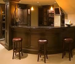 small basement corner bar ideas. Basement Bar Wraps Around Stairwell Small Corner Ideas