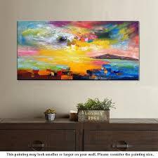 wall art contemporary art abstract landscape art canvas wall art a paintingartwork