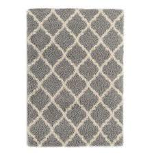 ultimate gy contemporary moroccan trellis design grey 8 ft x 10 ft area rug