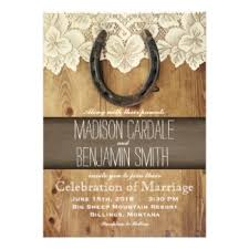 horseshoe wedding invitations rustic country wedding invitations Wedding Invitation Affiliate Program country western horseshoe lace wedding invitations Printable Wedding Programs Yourself