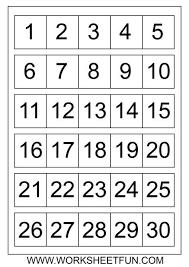 Printable Numbers 1 30 Free Printable Numbers Printable