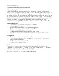 wondrous inspration patient service representative resume 11 patient service  representative resume - Patient Service Resume