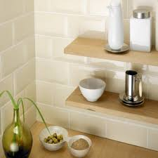 Kitchen Wall Tiles Uk High Gloss Bevelled 10x20cm Kitchen And Bathroom Tile In Cream