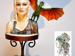 daenerys targaryen bust i made this bust as a reference practice daenerys targaryen bust i made this bust as a reference practice piece khaleesi made from modeling chocolate the head has a styrofoam ba com