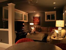 finished basement lighting ideas. Stunning Basement Living Room Ideas Inspiration And Adorable Family With Cozy Sofa Plus Pednant Lamp New Finished Lighting